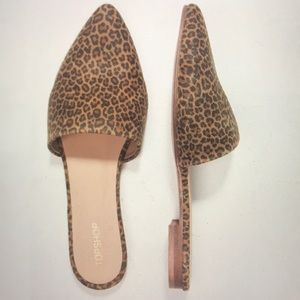 Topshop Angelina leopard flat Mules